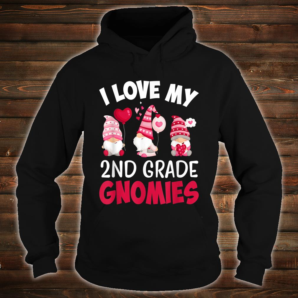 I Love My 2nd Grade Gnomies Cute Valentines Day Teacher Shirt hoodie