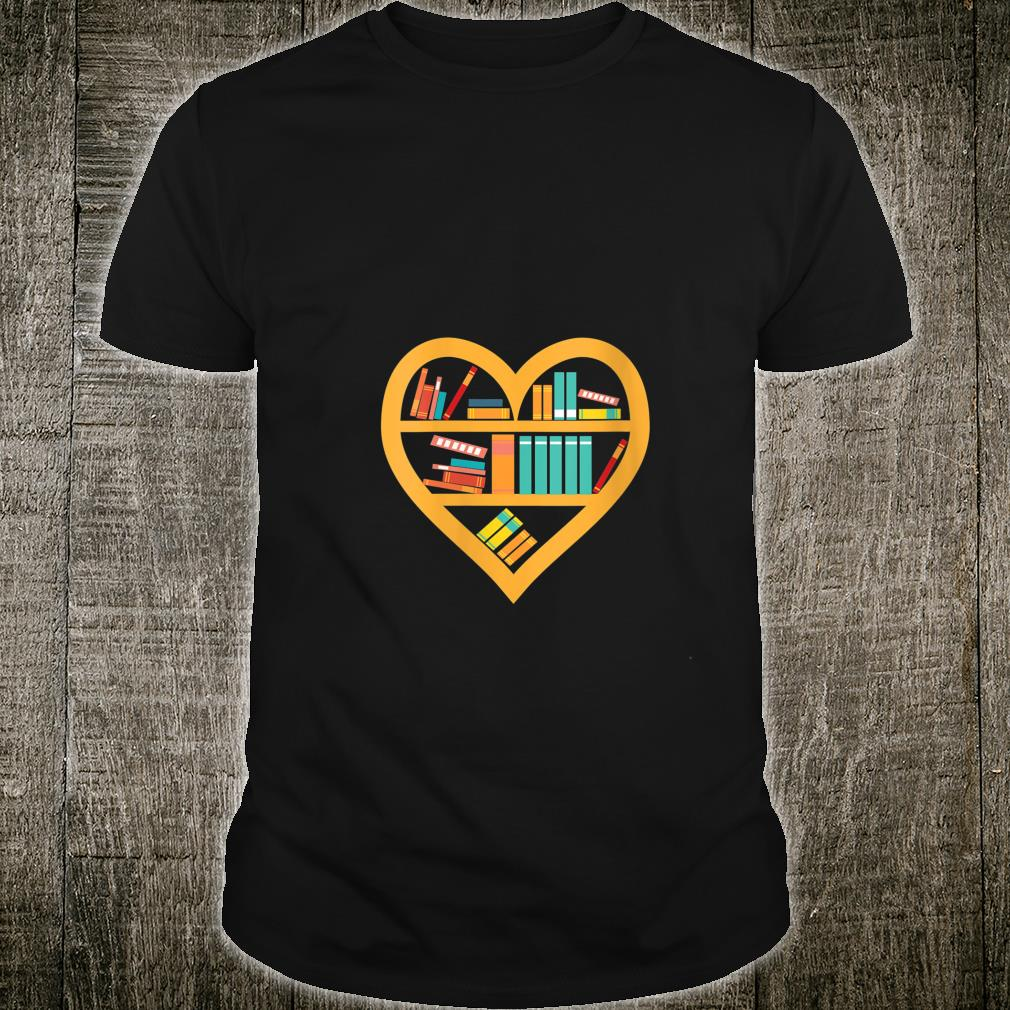 I Love Reading Heart Love Books Reading Club Shirt