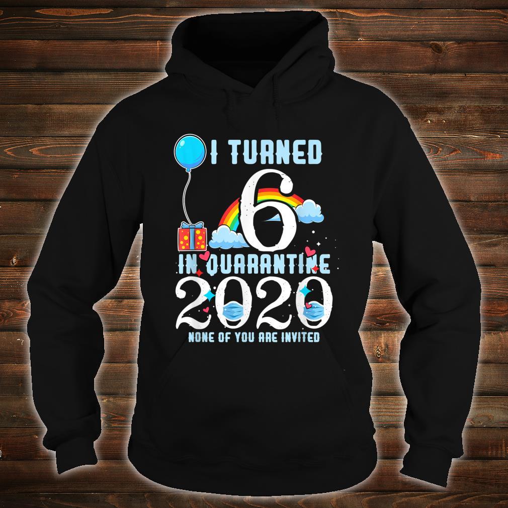 I Turned 6 in Quarantine Cute 6th Birthday Shirt hoodie