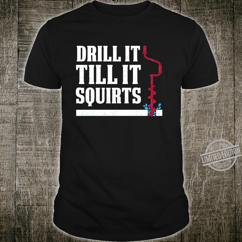 Ice Fishing Clothes Drill Auger Saying Quote Christmas Shirt