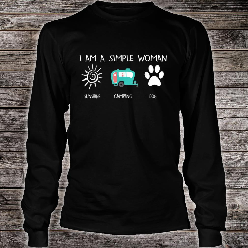 I'm a simpleSunshine Camping Dogs Shirt long sleeved