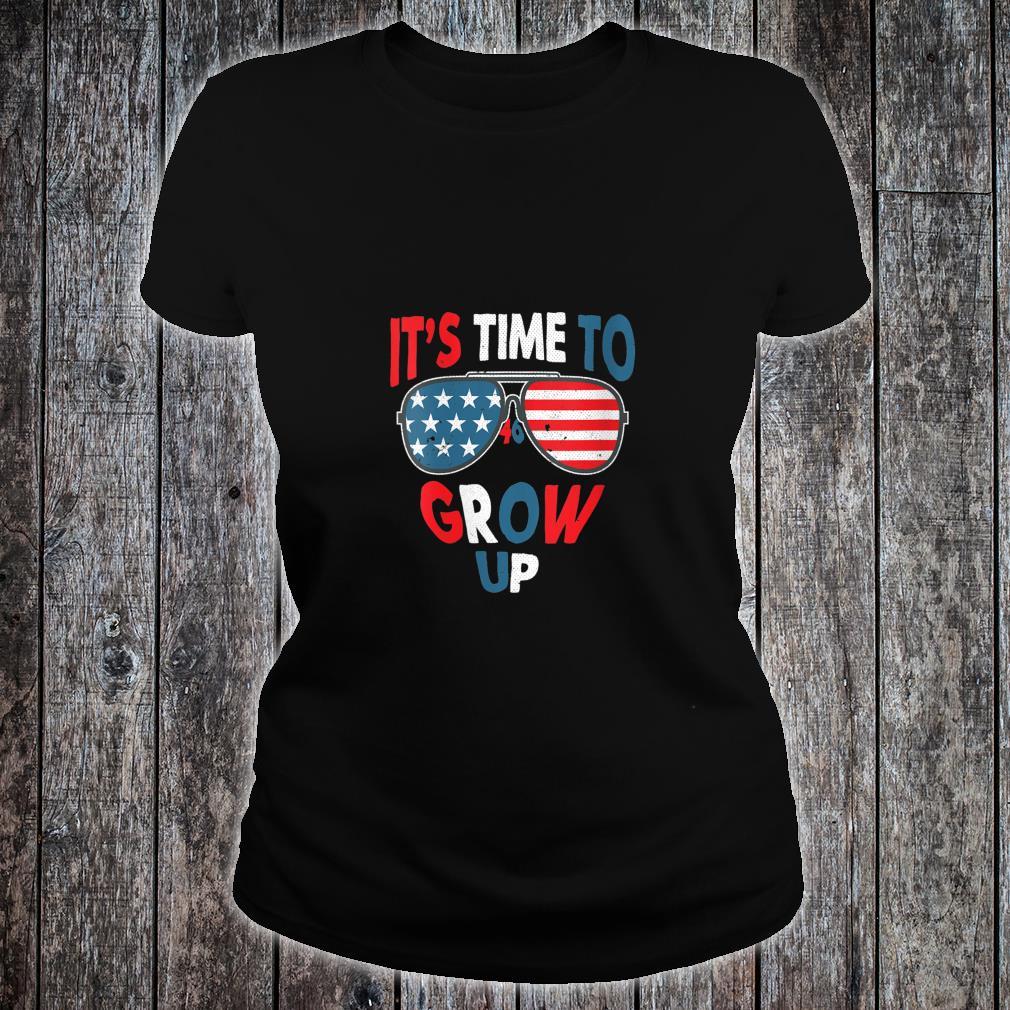 It's Time To Grow Up President Joe Biden 46 Shirt ladies tee