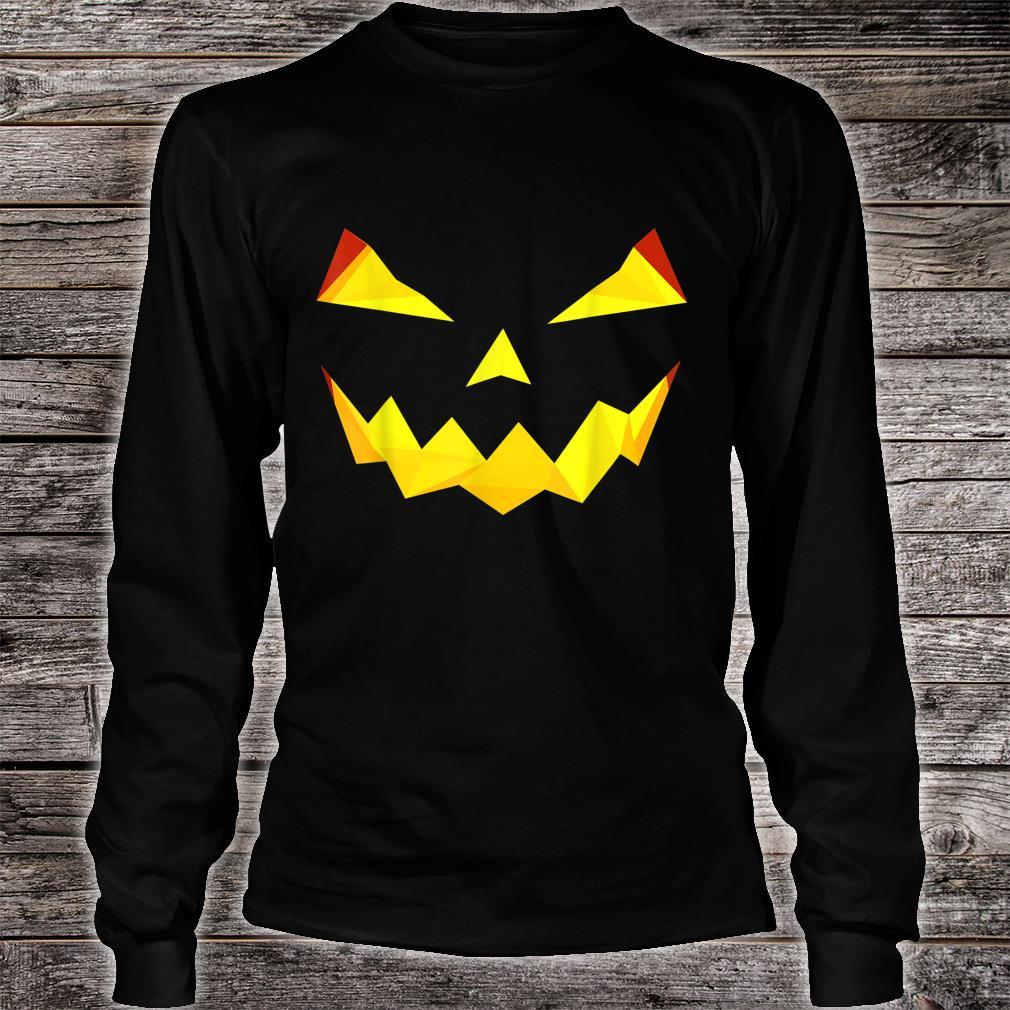Jack'O Lantern Pumpkin Face Face Halloween Costume Shirt long sleeved