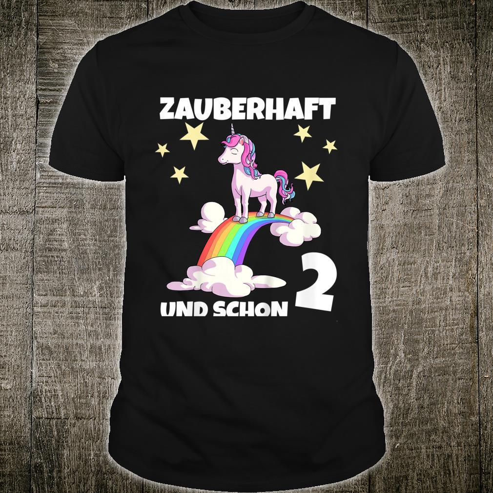 Kinder 2. Geburtstag Geburtstags 2 Jahre Mädchen Einhorn Shirt