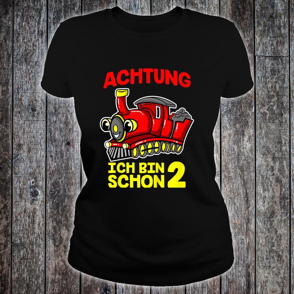Kinder Eisenbahn Zug Kinder 2. Geburtstag 2 Jahre Mädchen Junge Shirt ladies tee