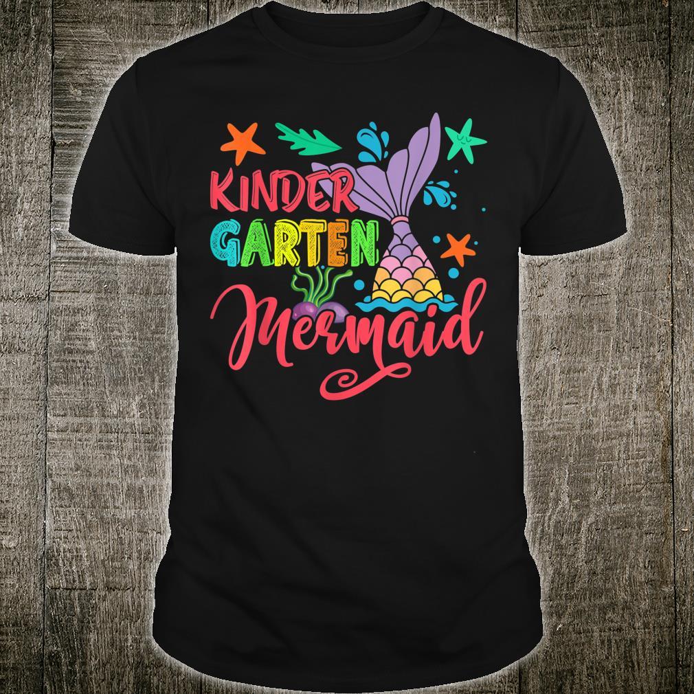 Kindergarten Mermaid Back To School for Mermaid Girls Shirt