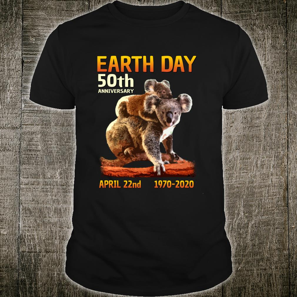 Koala Bear Save the Planet Earth Day 50th Anniversary Shirt