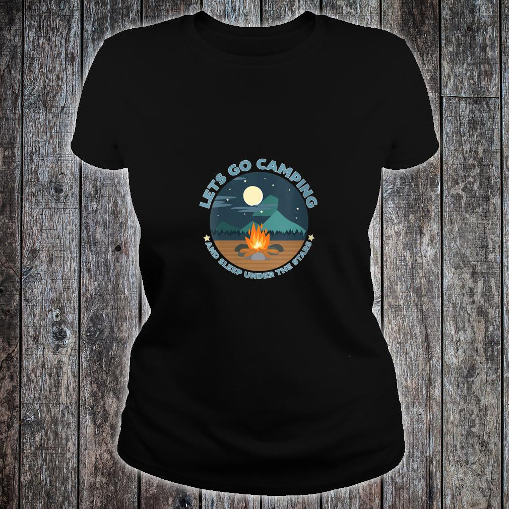 LETS GO CAMPING Shirt ladies tee