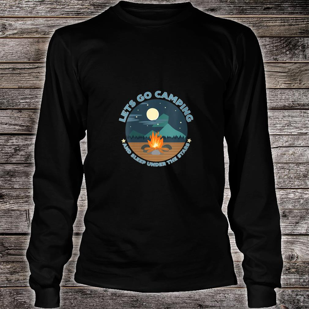 LETS GO CAMPING Shirt long sleeved