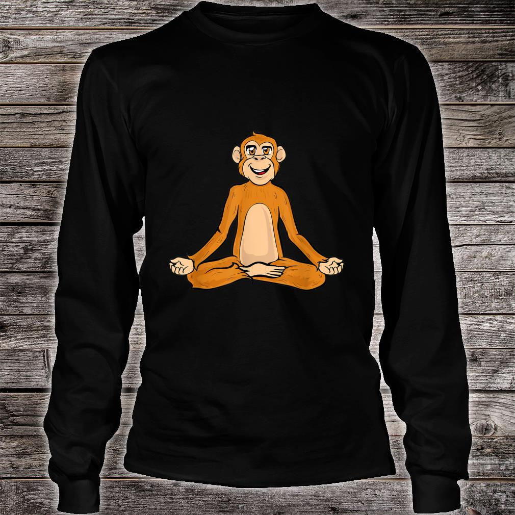Lustige Yoga Affe Affen Namaste Meditieren Zen Shirt long sleeved