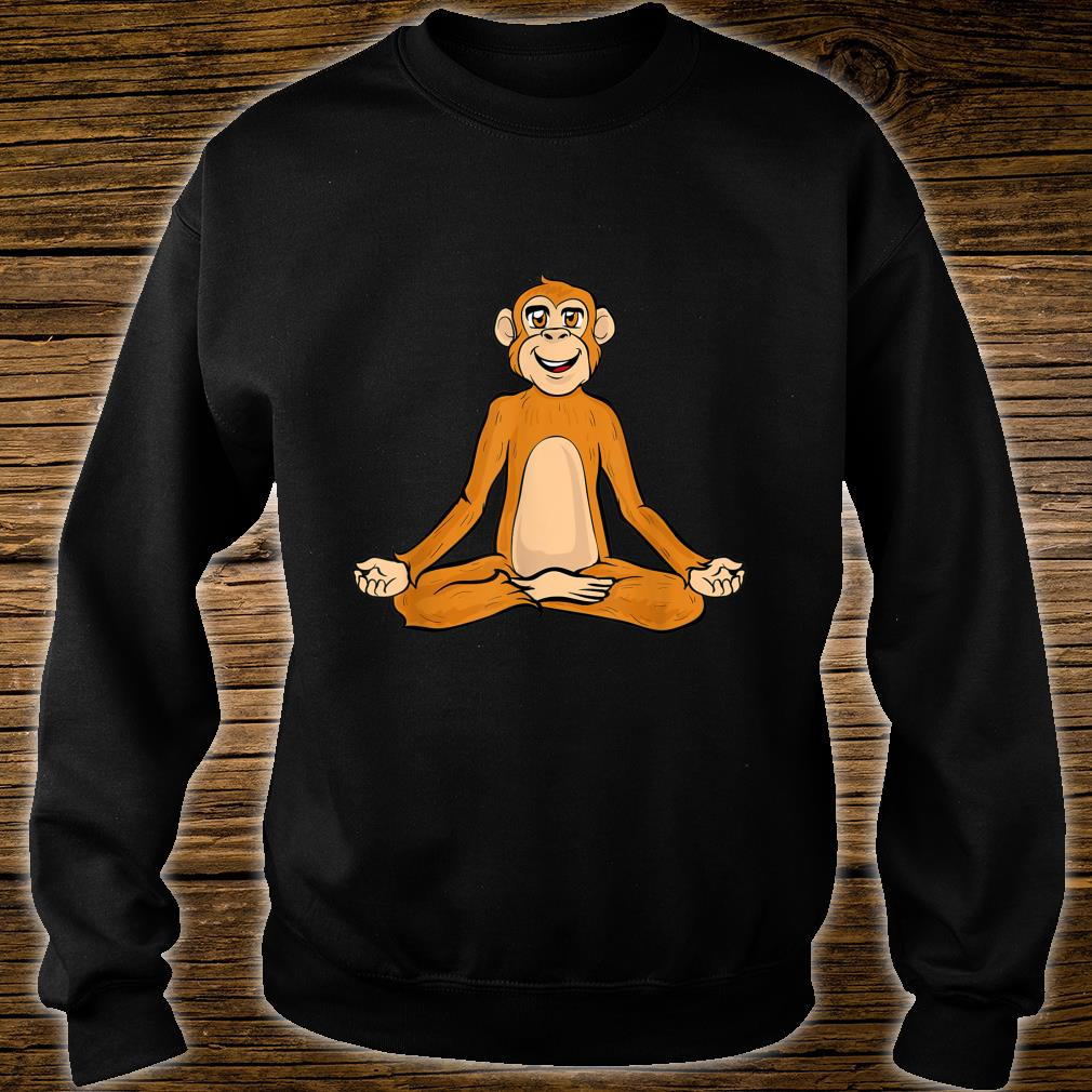 Lustige Yoga Affe Affen Namaste Meditieren Zen Shirt sweater