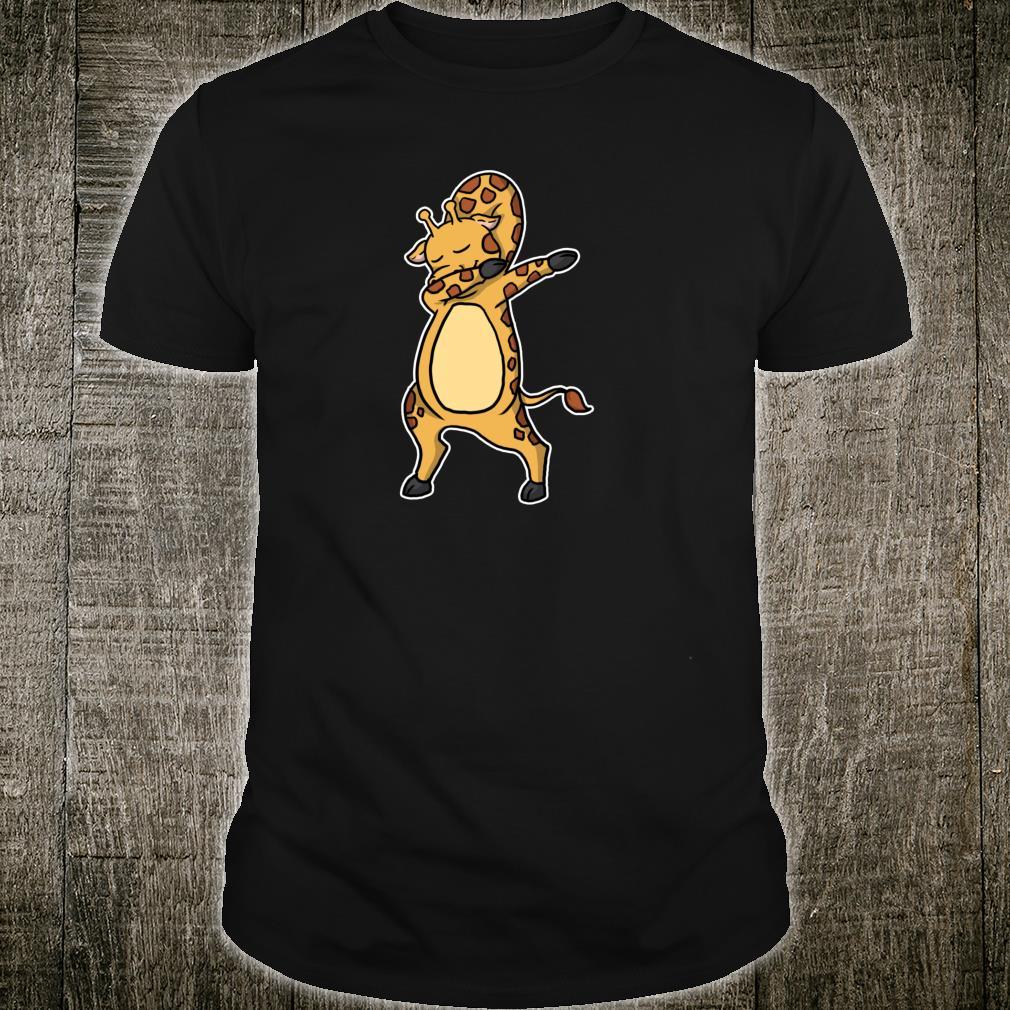 Lustiges Dabbing Giraffe Geschenk Giraffen Dab Dance Shirt