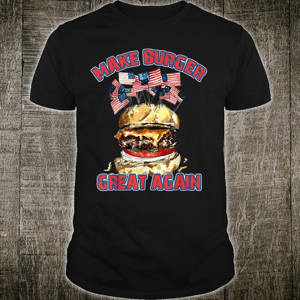 Make Burger Great Again USA Flag Shirt