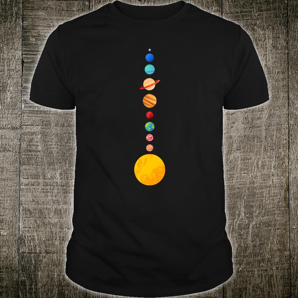 Minimales Sonnensystem Kleine Planeten Modernes Astronomiede Shirt