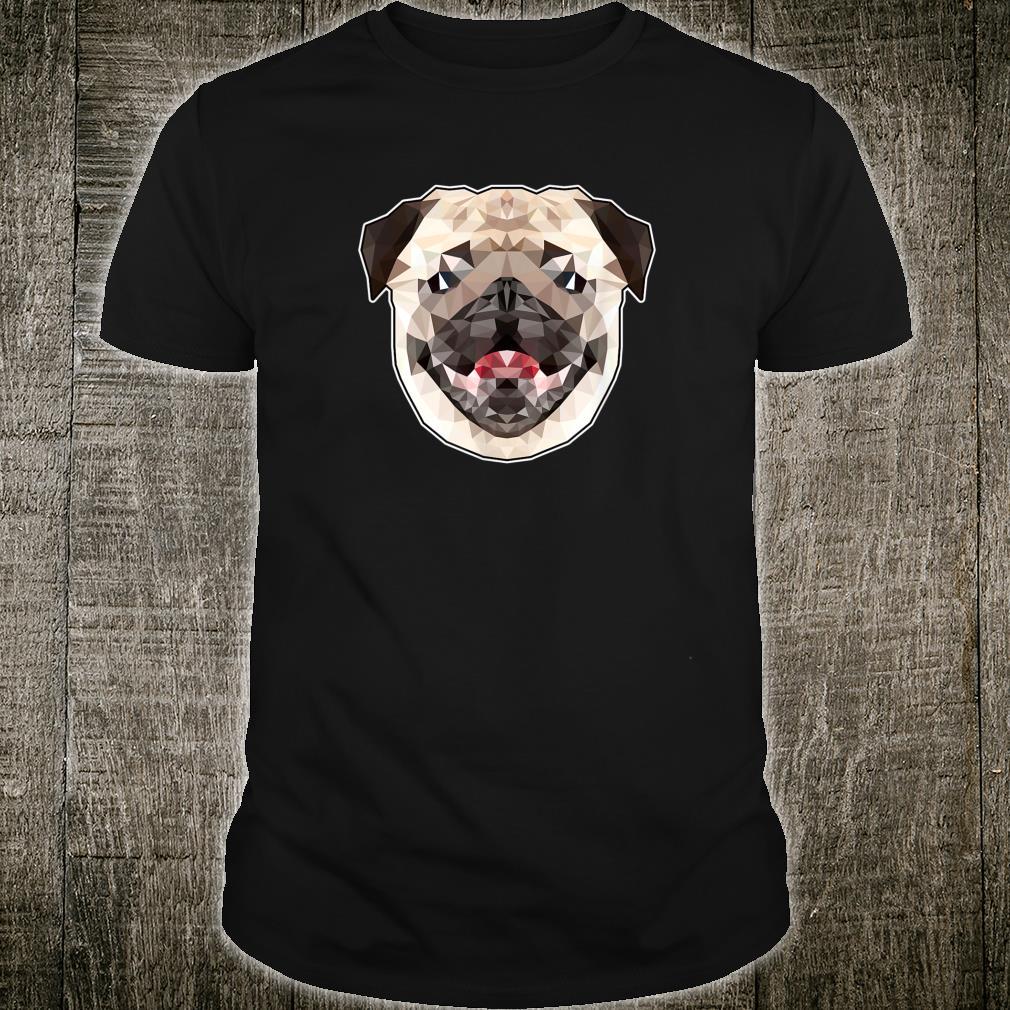 Mops Bild Geometrie Mops Hund Gesicht Shirt