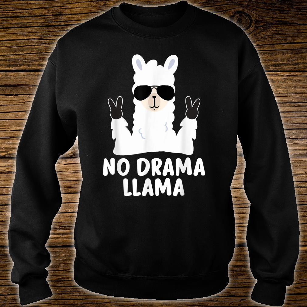 No Drama Llama Alpaca with Sunglasses Llama Alpaca Shirt sweater