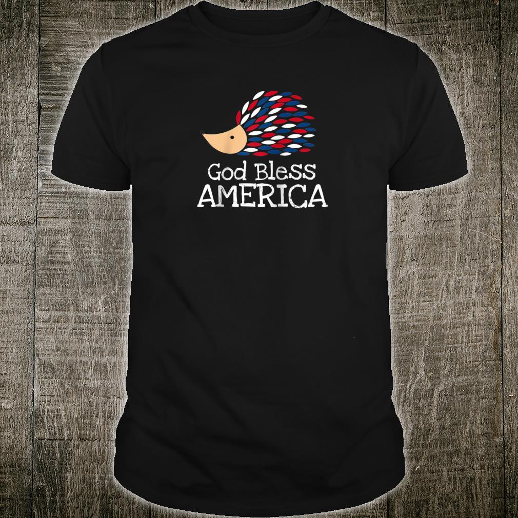 Patriotic Hedgehog Bless America Shirt