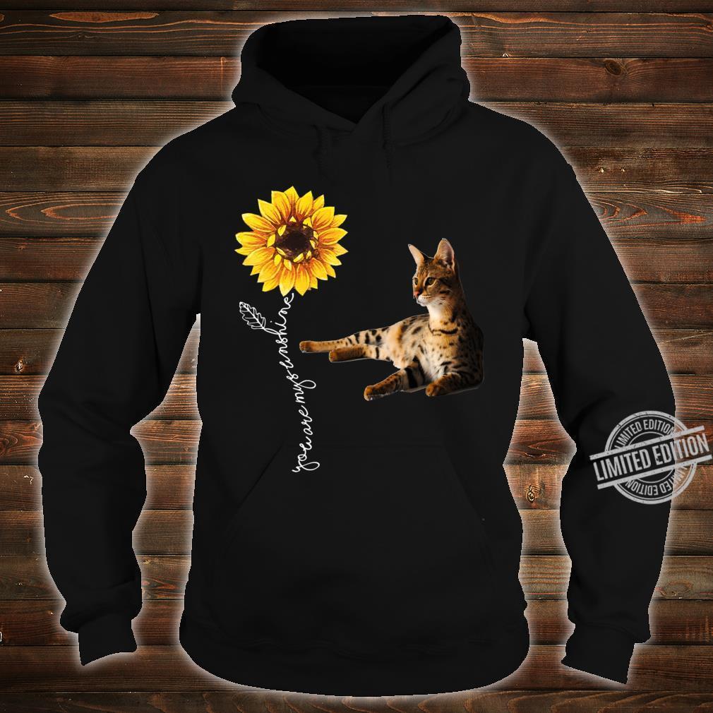 Savannah Cat Shirt hoodie