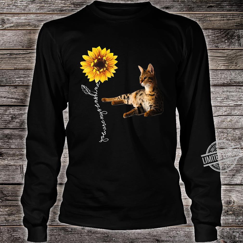 Savannah Cat Shirt long sleeved