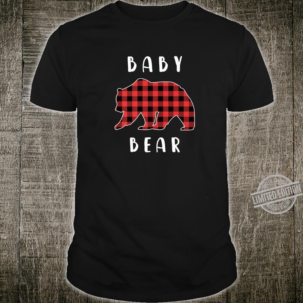 Vintage Baby Bear Family Pajamas Christmas Plaid Tartan Shirt