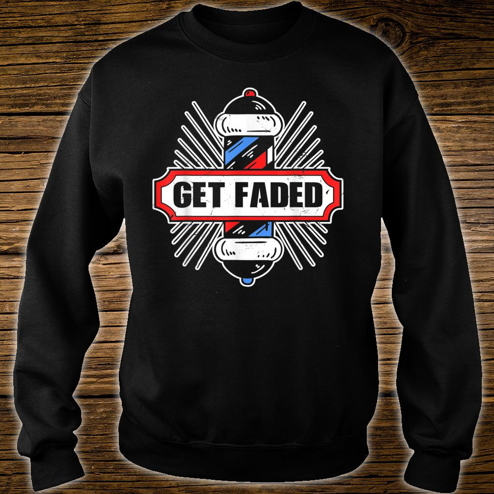 Vintage Look Get Faded Barber Distressed Look Shirt sweater