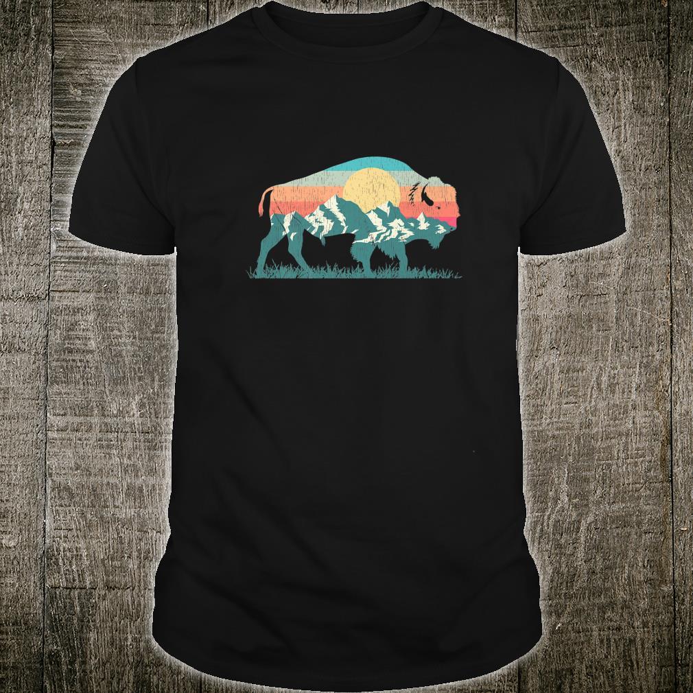 Vintage National Park Bison Landscape Buffalo Retro Shirt
