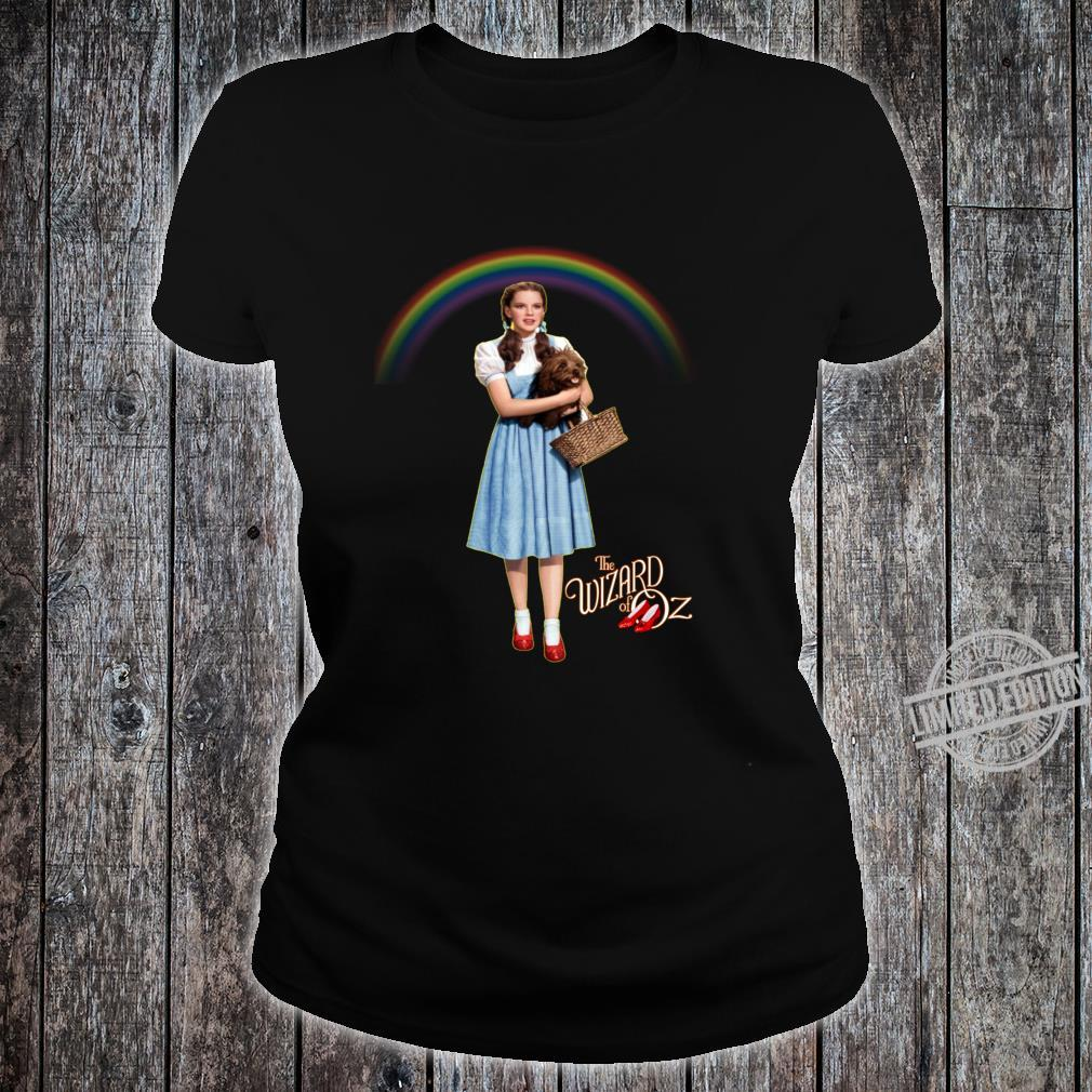 Wizard Of Oz Vintage Fantasy Rainbow Dorothy Red Shoes Toto Shirt ladies tee